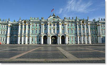 The Winter Palace, home to the Hermitage Museum