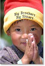 Kids with  Big Brother/Big Sister Hats