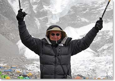 Dr. Charles Martin at Everest Base Camp