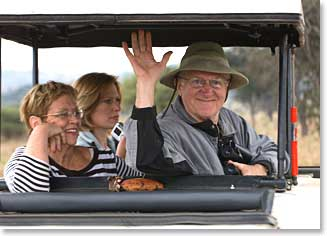 Dr. Martin, Becky and his ddaughter Elizabeth during safari