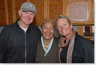 Dr. Martin, Jackie with our sherpa friend