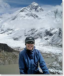 Cami Mattson at the Everest Base Camp