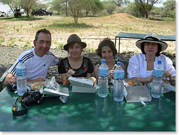 Lunch stop on Safari