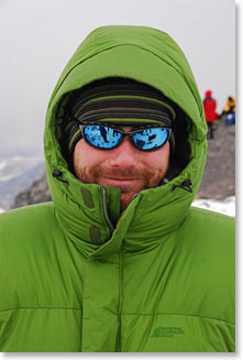 Steve bundled up on the slopes of Aconcagua