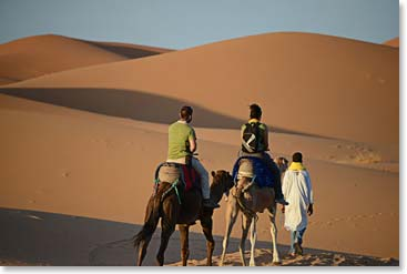 A camel ride through the dessert is a once in a lifetime experience!