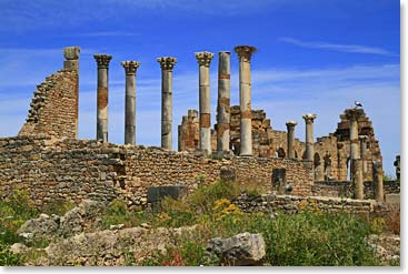The ancient Roman ruins of Volubilis