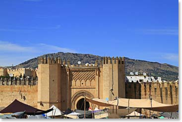 Bab Chorfa, the great city gate of Fes