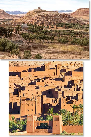 The well preserved fortress of Ait Ben Haddou