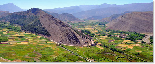 The beautiful Bougumez valley