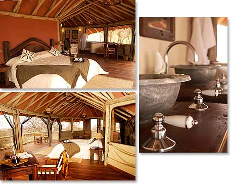 Bedroom and Bathroom in Treetops Lodge