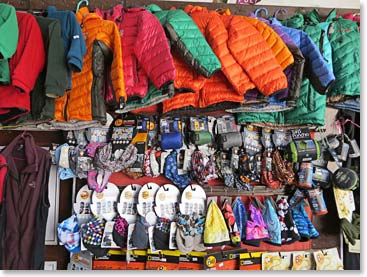 Every piece of gear you can imagine is available in Kathmandu and Namche
