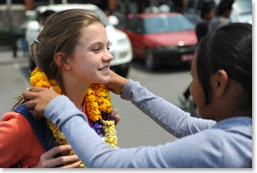 Climbers are welcomed to Nepal.