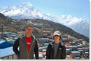 We hike above the town of Namche for incredible views.