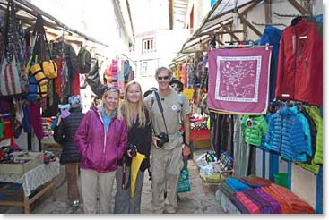 Shopping in Namche on our rest day