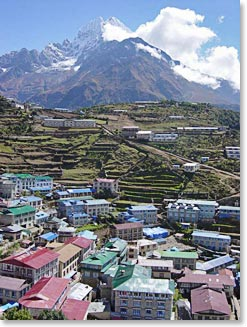 Namche is a perfect place to spend Christmas