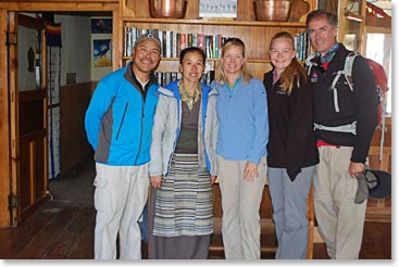 Feeling at home in BAI Ang Temba's lodge in Panboche