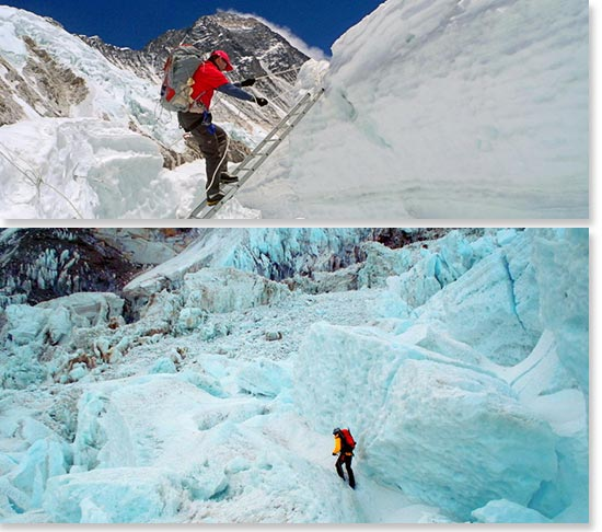 In the Khumbu Icefall