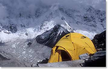 Berg Adventures's tent at the high camp of Island Peak
