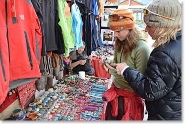 Plenty of shopping to do in Namche