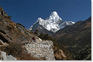 Ama Dablam from the trails