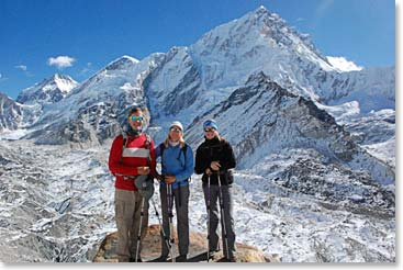 In the midst of the Khumbu glacier