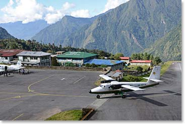 The runway in Lukla