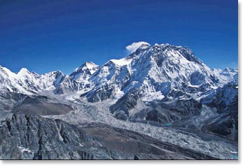 View of Everest from Lobuche Peak