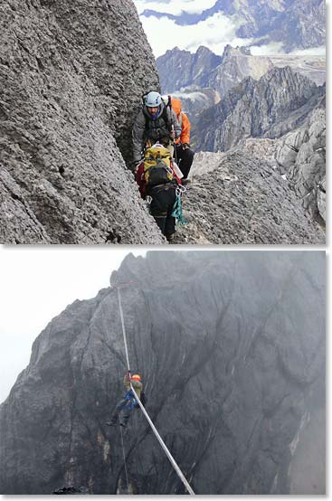 Rock climbing on Carstensz gives climbers great mountaineering experience!