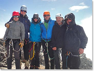 Big smiles on the summit of Carstensz Pyramid
