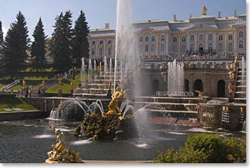 Our first full day in this beautiful city will be spend touring the famous sights like the Peterhof Palace