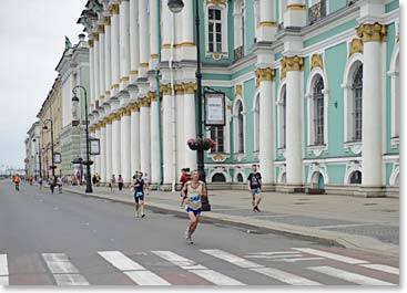 "Climbers also have the option of running the ""International Ergo White Night's Marathon"" which takes place every year on our tour day of St. Petersburg"