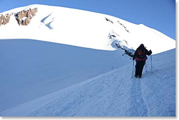 Moving up on Mount Elbrus