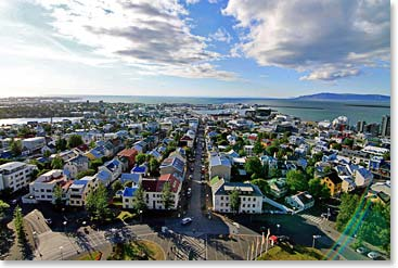 Arriving in the peaceful coastal city of Reykjavik