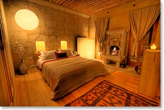 Our hotel in Cappadocia is carved into the rock