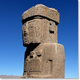 We visit Tiwanaku, a pre-Columbian archaeological site on the way to Lake Titicaca.