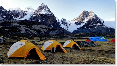 Our beautiful Condoriri Base Camp is a perfect home.