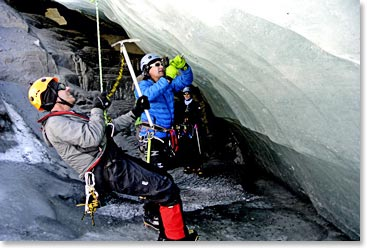 Training on the glacier