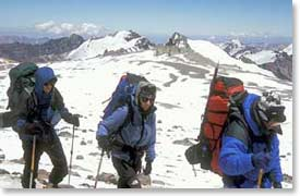 Example of packs used on Aconcagua