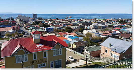 Arriving in Punta Arenas