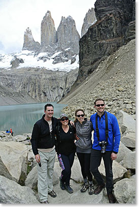 The famous towers of Torres del Paine