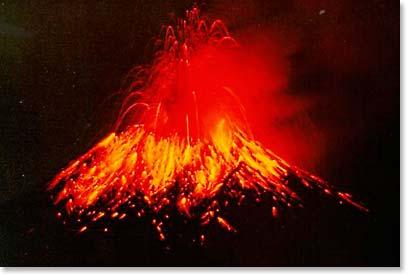 Strombolian Eruption Strombolian Style Eruption of