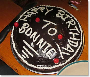 Everest base camp dispatch october 9 2014 back to kathmandu on a one of trip highlights a birthday cake for bonnie publicscrutiny Image collections